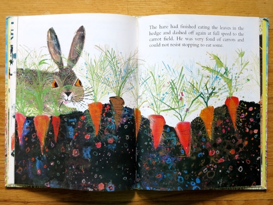 from The Hare and the Tortoise based on a fable by La Fontaine, illustrated by Brian Wildsmith, 1966